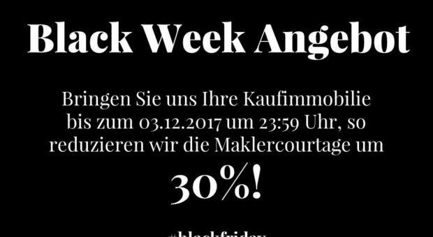Black Week Angebot: 30% Ersparnis bis 03.12.2017!
