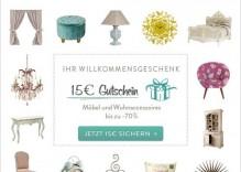 Gutschein für westwing.de in Höhe von 15,00 €