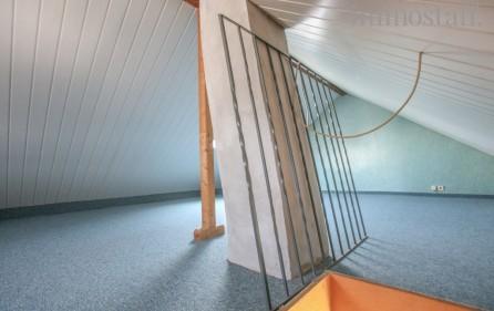 Ausgebauter und gedämmter Dachboden