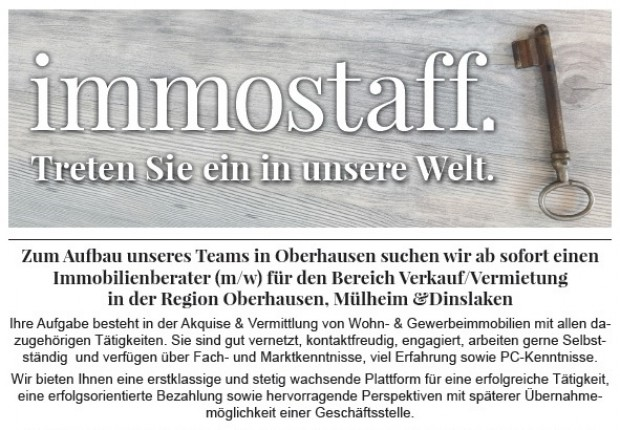 Immobilienmakler immobilienberater in oberhausen gesucht for Immobilienmakler gesucht