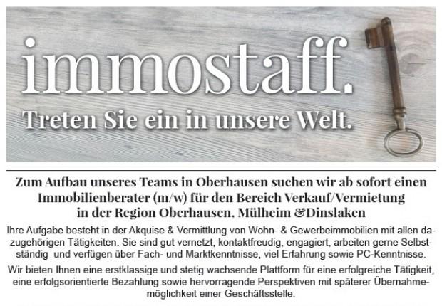Immobilienmakler(in) in Oberhausen gesucht!