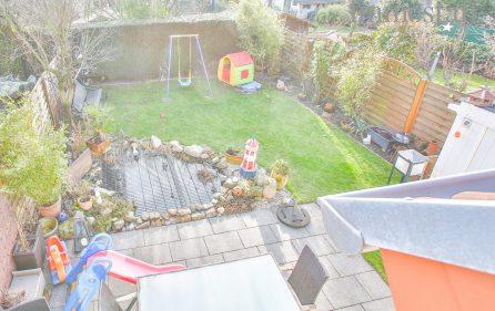 Blick aus dem DG in den Garten