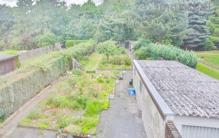 Blick in den Garten aus dem OG.