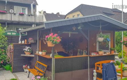 Gartenhaus mit Rückansicht