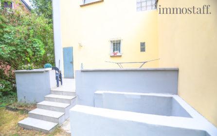 Terrasse der Wohnung im EG rechts