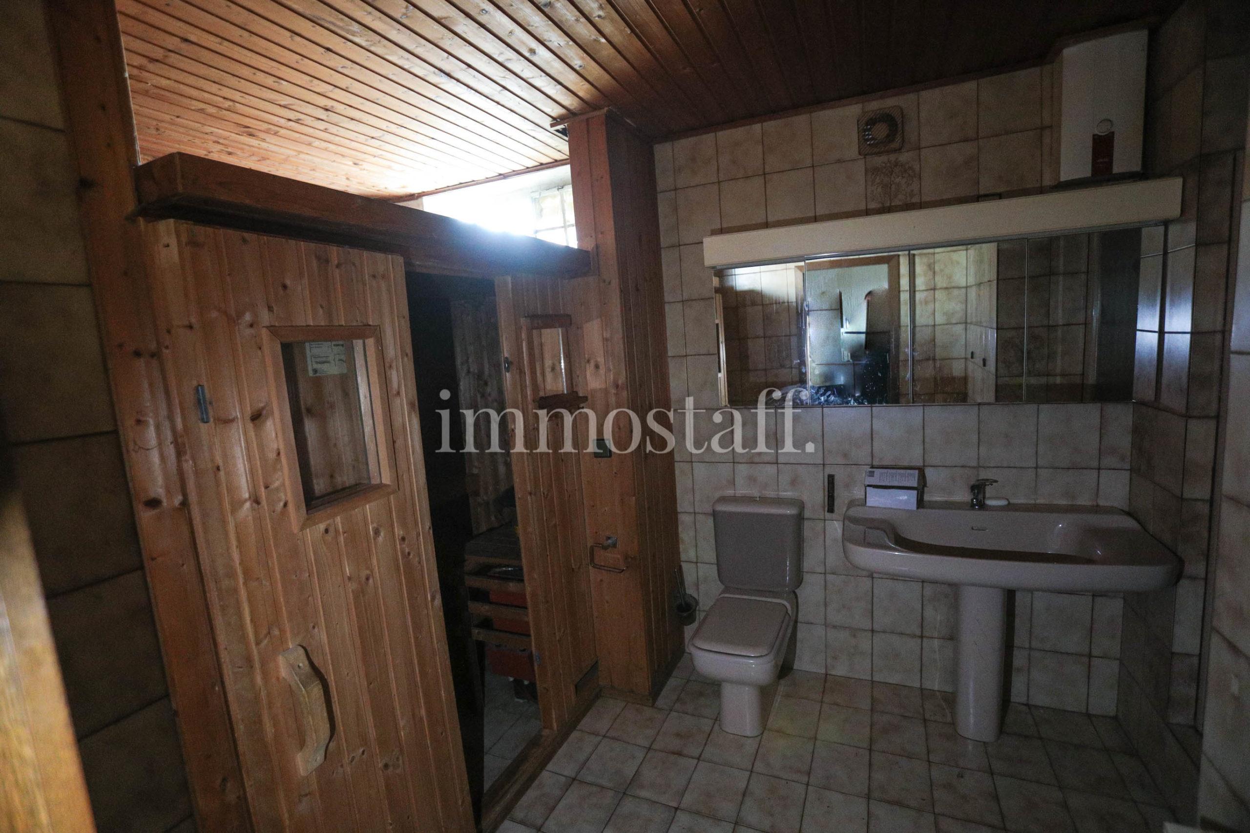Badezimmer mit Sauna Bungalow